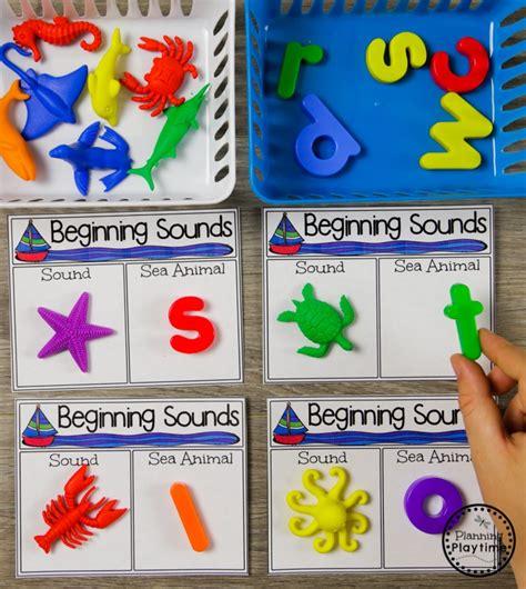 theme planning playtime 392 | Preschool Beginning Sounds Activity for an Ocean Theme