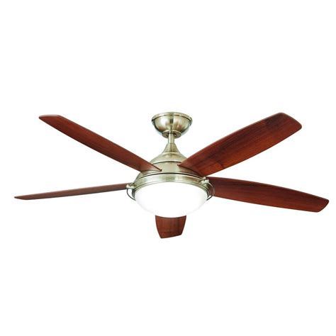 home decorators collection ceiling fan home decorators collection gramercy 52 in led brushed 37473