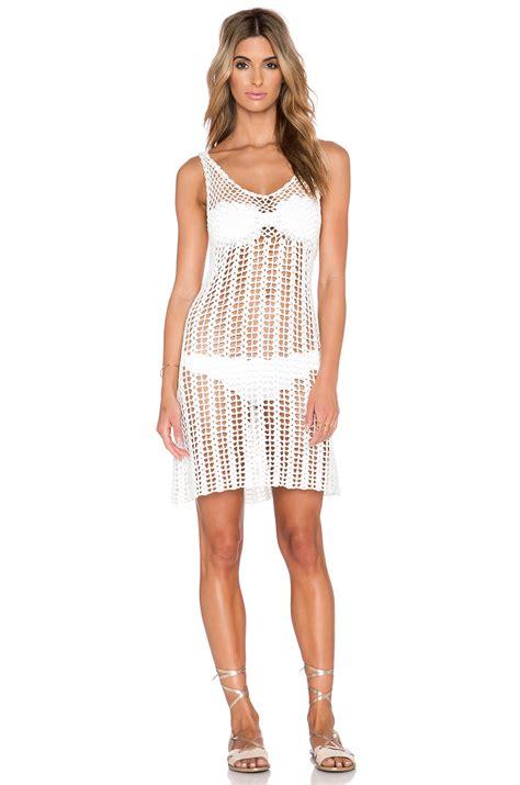 Lyst - Glamorous Mini Crochet Dress in White