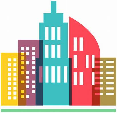 Icon Skyline Clipart Colorful Drawing Transparent Smart