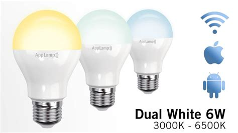 dual white wifi led bulb 6w led appl