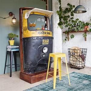 Maison Du Monde Bar : meuble de bar en m tal jaune noir l 95 cm touk touk maisons du monde ~ Teatrodelosmanantiales.com Idées de Décoration