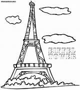 Paris Tower Eiffel Coloring Pages France Printable Cn Easy Drawing Getcolorings Colorings Fancy Getdrawings Eiff sketch template