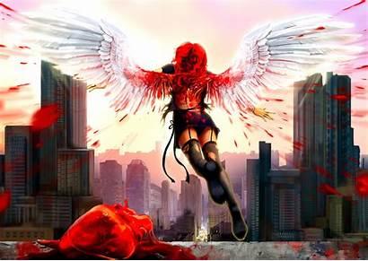 Angel Fallen Anime Bloody Wallpapers