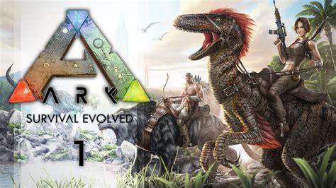 ARK Survival Evolved Ep 1: Dinosaurs! - YouTube