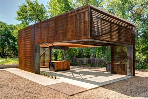 Backyard Built by Steel Grate Farming Classroom By Colorado Building