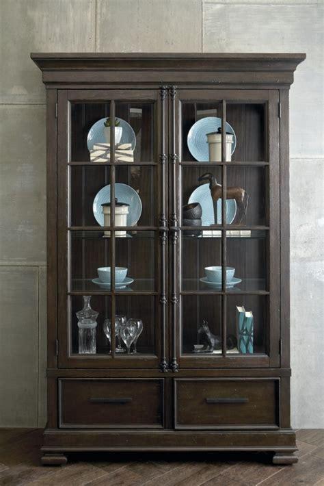 pulaski fulton stdark wood china cabinet  touch