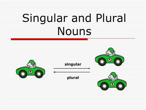 singular  plural nouns including irregular plural nouns