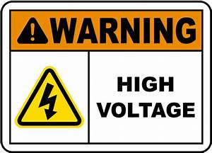 warning high voltage label e3443l by safetysigncom With high voltage warning label requirements