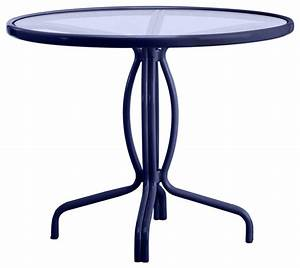 """Tamiami 36"""" Round Bistro Dining Table, Glass Top (no"""