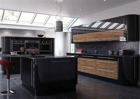 gloss black kitchen cabinets cuisine et bois 233 l 233 gance et nature 3845