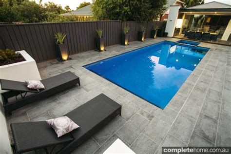 modern poolside landscaping completehome