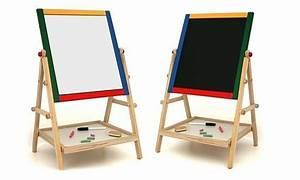 Tableau Enfant Bois : tableau en bois 2 en 1 pour enfants avec accessoires dealable ~ Teatrodelosmanantiales.com Idées de Décoration