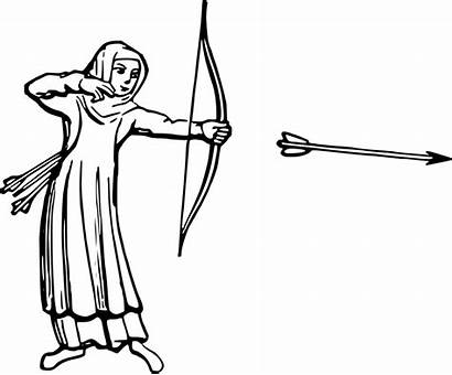 Bow Arrow Drawing Archer Archery Hunting Clip