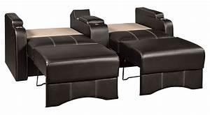 home theater sleeper sofa smileydotus With theater sofa bed