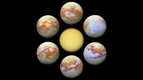 Titan S by Six New Infrared Images Of Saturn S Moon Titan Are The