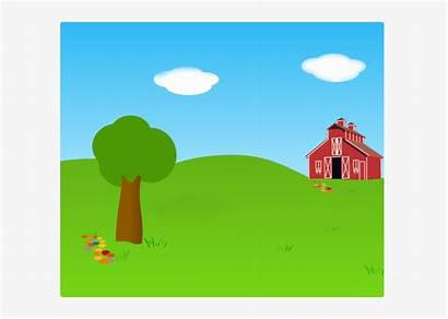 Farm Clipart Background Outside Clip Outdoors Clker