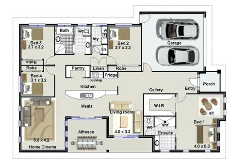 4 bedroom 2 house plans ranch floor plans house 4 bedroom 2 bath 1 bedrooms