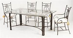 table a manger fer forge