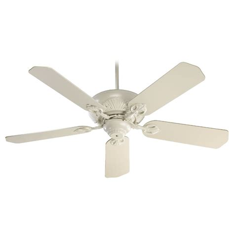 antique white ceiling fan with light quorum lighting chateaux antique white ceiling fan without