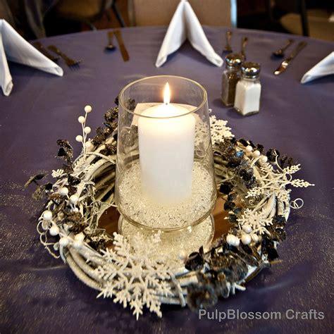 10 winter wedding centerpieces snowflake theme 70 00