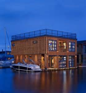 modern homes interiors wooden floating house with modern interior lake union