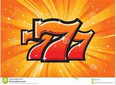 The lucky sevens symbols stock vector Illustration of