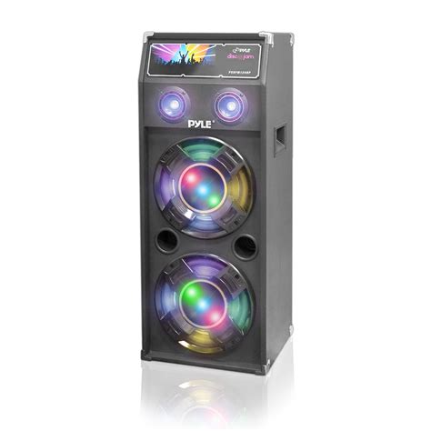 speaker with disco light pylepro psufm1040p home and office pa loudspeakers