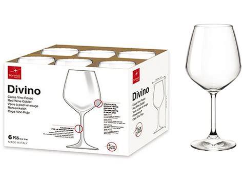 bicchieri da bormioli bicchieri bormioli calice rosso divino 53 cl x 6