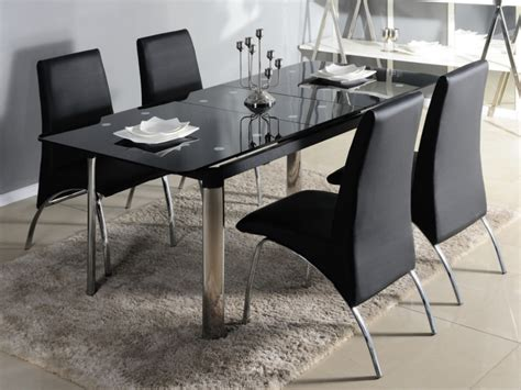table de cuisine en verre pas cher table manger en verre design pas cher