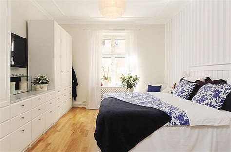 stylish  bedroom apartment  stockholm