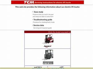 Tcm Servicing Instructions For Electric Lift Truck