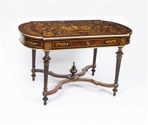 tables bureau antique marquetry bureau plat writing table c 1860