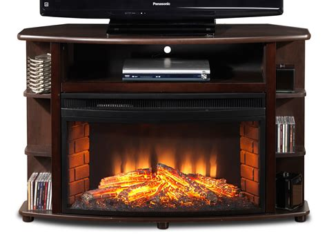 tv fireplace stand corner tv stand with fireplace decofurnish