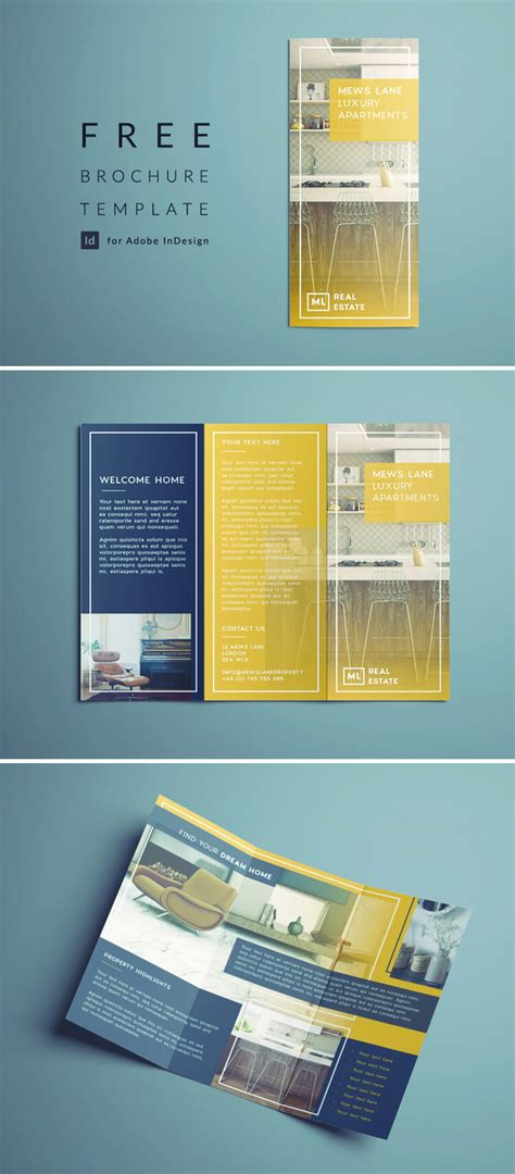 Free Indesign Brochure Templates Cs6 by Tri Fold Brochure Free Indesign Template