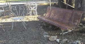 Banc De Jardin En Fer : le vide grenier de didou la brocante ancien banc de jardin public en fer a trous superbe ~ Melissatoandfro.com Idées de Décoration
