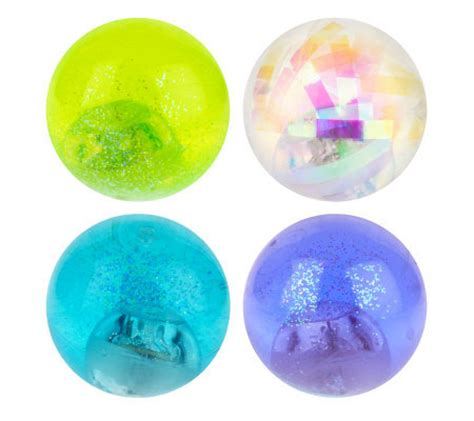 large light up balls set of 4 2 quot high bounce water filled light up bouncy balls
