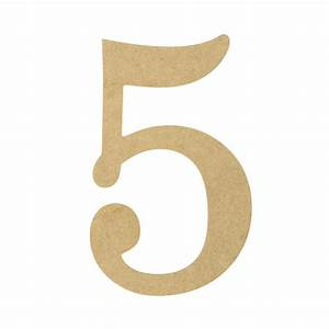 """10"""" Decorative Wood Number: 5 [AB2056] - MardiGrasOutlet com"""