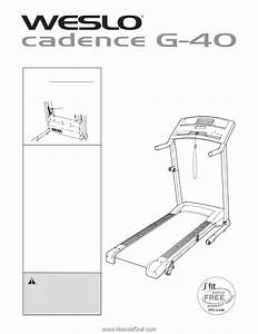 Weslo Cadence G40 Treadmill User Manual