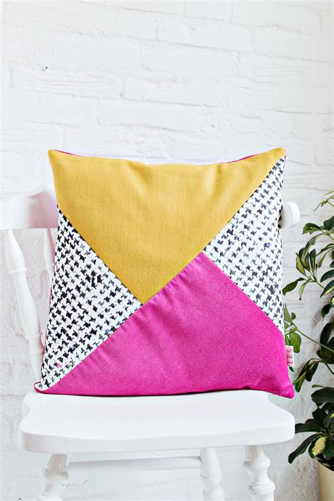 Diy  Color Block Print Cushion Cover