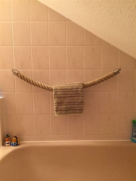 Kleines Bad Handtuchhalter by Handtuchhalter Tau Seil Maritime Deko Im Badezimmer