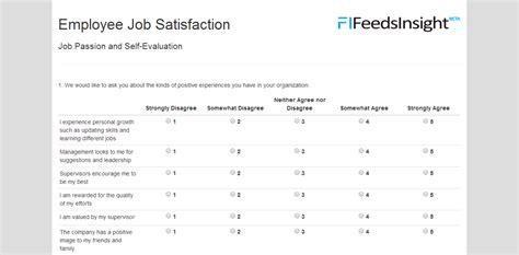 employee survey template template employee satisfaction survey