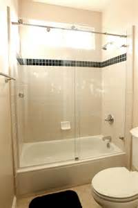 bathroom design atlanta sliding glass door combined with white tub placed on the