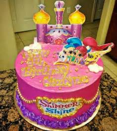 Shimmer and Shine Birthday Party Cake
