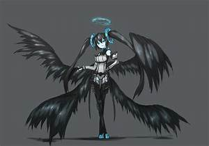 Angel with black wings Desktop wallpapers 1280x800