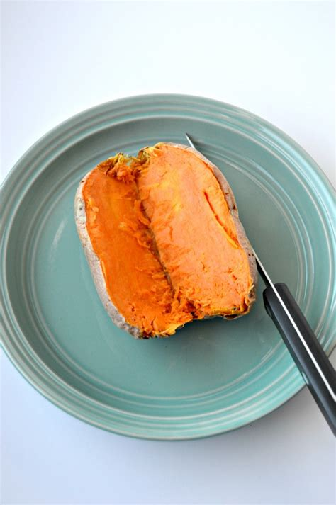 microwave sweet potato how to make a baked sweet potato in the microwave clean eating veggie girl