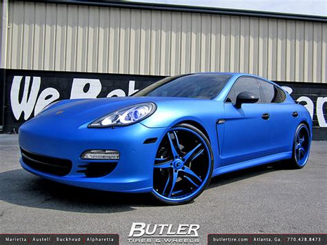 matte blue porsche matte metallic blue porsche panamera s with 24in forgiato