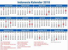 Indonesiakalender20181 Kelender 2018