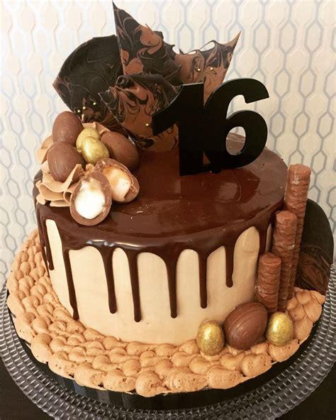Birthday cakes (birthday cake) decorated cake served at a birthday party (birthday cake) a cake made to celebrate and mark the anniversary of a person's birth. 16th birthday cake. Chocolate ganach drip cake.   Sweet 16 ...