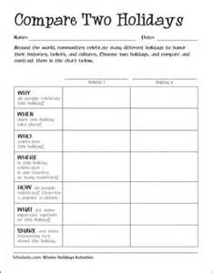 Printable Compare and Contrast Chart